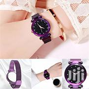 Mesh Steel Watches Men Women Watches Clock - Purple | Watches for sale in Central Region, Kampala