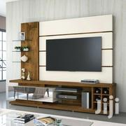 White Tv Stand With Glass Hangers | Furniture for sale in Central Region, Kampala