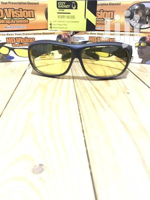 HD Night Vision Anti-glare Safety Driving Glasses-yellow Lenses