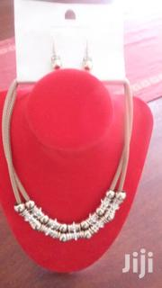 Gold Platted Double Layer Necklace With Earrings From UK | Jewelry for sale in Central Region, Kampala