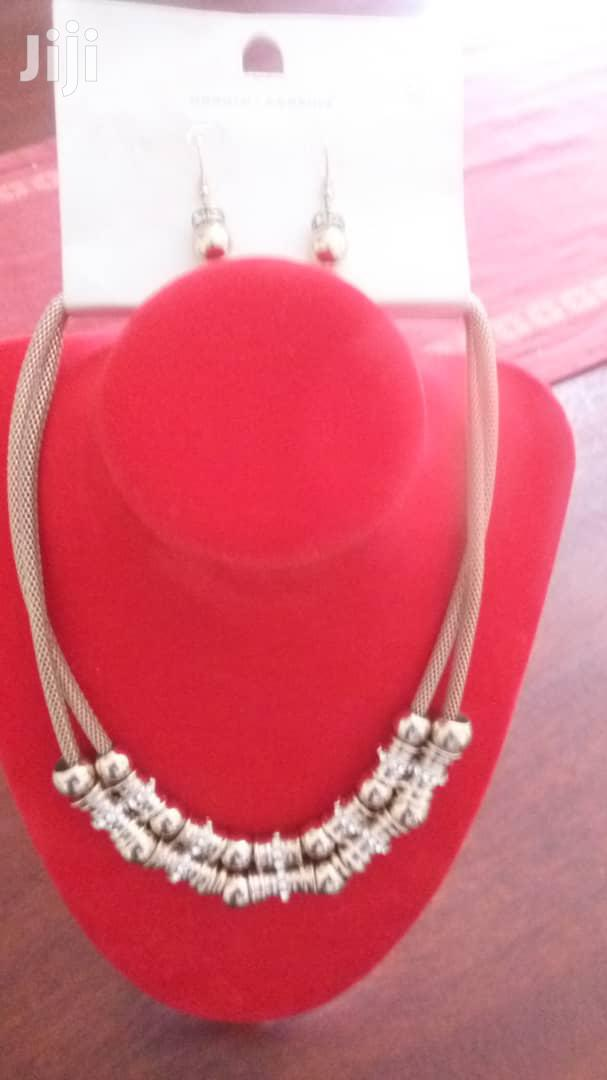 Gold Platted Double Layer Necklace With Earrings From UK