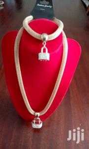 Gold Tone Necklace With Paddlock Pendant And Bracelet Set | Jewelry for sale in Central Region, Kampala