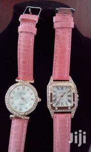 Pink Strap Watch With Rhinestone Set | Watches for sale in Central Region, Kampala