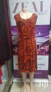 Beautiful Cotton Sleeveless Orange Dress | Clothing for sale in Central Region, Kampala