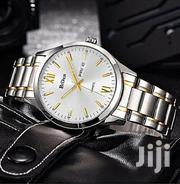 Men Stainless Steel Analog Wrist Watch - Silver | Watches for sale in Central Region, Kampala